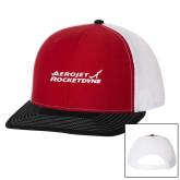 Richardson Red/White/Black Trucker Hat-Primary Mark