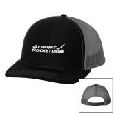 Richardson Black/Charcoal Trucker Hat-Primary Mark