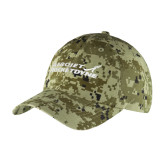 Green Digital Camo Unstructured Hat-Primary Mark