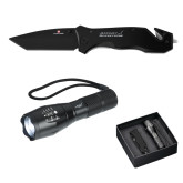 Swiss Force Knife/Flashlight Set-Primary Mark Engraved