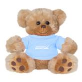 Plush Big Paw 8 1/2 inch Brown Bear w/Light Blue Shirt-Primary Mark