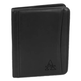 Millennium Black Leather Writing Pad-Alcorn Engrave