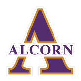 Medium Decal-Alcorn Official Logo, 8 in W