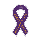 Ribbon Decal-Alcorn Official Logo, 4 in W X 8 in H
