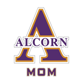 Mom Decal-Alcorn Official Logo, 6 in W