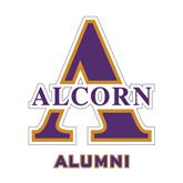 Alumni Decal-Alcorn Official Logo, 6 in W
