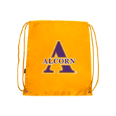 Alcorn Gold Drawstring Backpack-Alcorn Official Logo