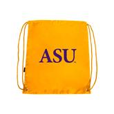 Nylon Gold Drawstring Backpack-ASU