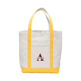 Contender White/Gold Canvas Tote-Alcorn Official Logo