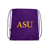 Alcorn Purple Drawstring Backpack-ASU