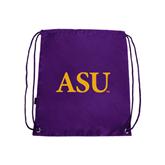 Nylon Purple Drawstring Backpack-ASU