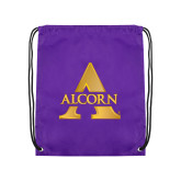 Purple Drawstring Backpack-Alcorn A