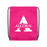 Pink Drawstring Backpack-Alcorn A
