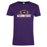 Ladies Purple T Shirt-Alcorn State Football