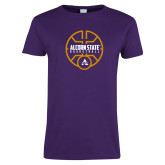 Ladies Purple T Shirt-Alcorn State Basketball