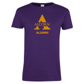 Ladies Purple T Shirt-Alcorn Alumni