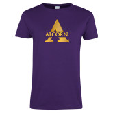 Ladies Purple T Shirt-Alcorn A