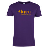 Ladies Purple T Shirt-Alcorn State University
