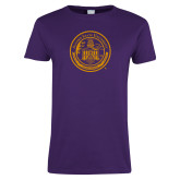 Ladies Purple T Shirt-Alcorn Seal