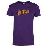 Ladies Purple T Shirt-Alcorn State Braves