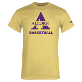Champion Vegas Gold T Shirt-Alcorn Basketball