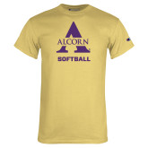 Champion Vegas Gold T Shirt-Alcorn Softball