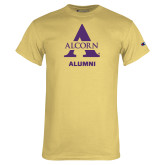 Champion Vegas Gold T Shirt-Alcorn Alumni