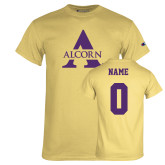 Champion Vegas Gold T Shirt-Alcorn A, Custom Tee w/ Name and #