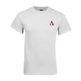 Alcorn White T Shirt-Alcorn Official Logo