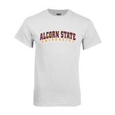 White T Shirt-Arched Alcorn State University