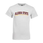 Alcorn White T Shirt-Arched Alcorn State University
