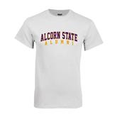 Alcorn White T Shirt-Alumni