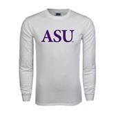 White Long Sleeve T Shirt-ASU