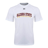 Under Armour White Tech Tee-Arched Alcorn State University