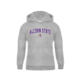 Youth Grey Fleece Hood-Arched Alcorn State