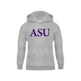 Youth Grey Fleece Hood-ASU
