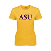 Alcorn Ladies Gold T Shirt-ASU