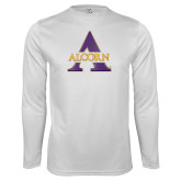 Performance White Longsleeve Shirt-Alcorn A