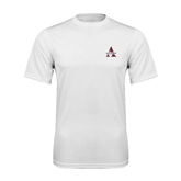 Syntrel Performance White Tee-Alcorn Official Logo