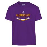 Youth Purple T Shirt-Alcorn State Softball