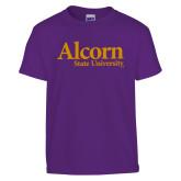 Youth Purple T Shirt-Alcorn State University