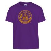 Youth Purple T Shirt-Alcorn Seal