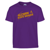 Youth Purple T Shirt-Alcorn State Braves