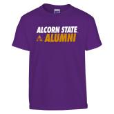 Youth Purple T Shirt-Alcorn State Alumni