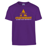 Youth Purple T Shirt-Fear the Brave