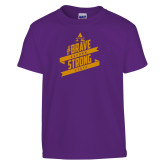Youth Purple T Shirt-Brave Strong