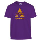 Youth Purple T Shirt-Alcorn Football