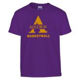 Youth Purple T Shirt-Alcorn Basketball
