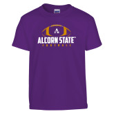Youth Purple T Shirt-Alcorn State Football