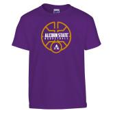 Youth Purple T Shirt-Alcorn State Basketball